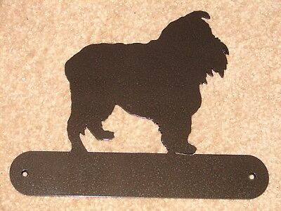 Brussels Griffon Metal Home Address Plaque House Sign Dog Pet