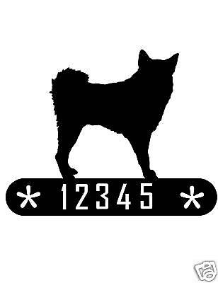 Finnish Spitz Metal Home Address Sign House Decor Dog