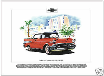 CHEVROLET BEL-AIR 1957 Convertible - US Car Art Picture