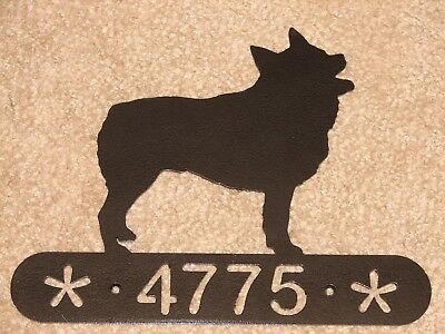 Schipperke Metal Home Address Sign House  Decor  Dog