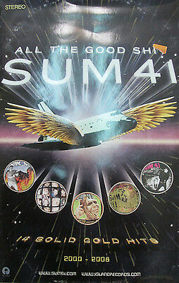 SUM 41 All The Good Sh*t, 2-sided promo poster, 11x17