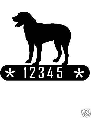 Great Swiss Mountain Dog Metal Home Address Sign House