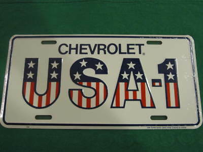 Chevrolet Usa-1 License Plate American Flag Sign L97
