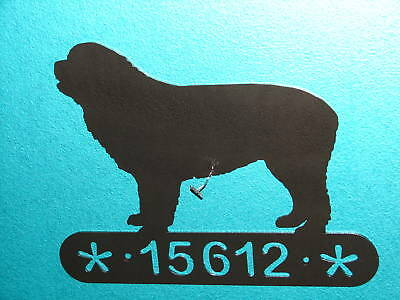 Newfoundland Home Address Sign House Dog Memorial Decor