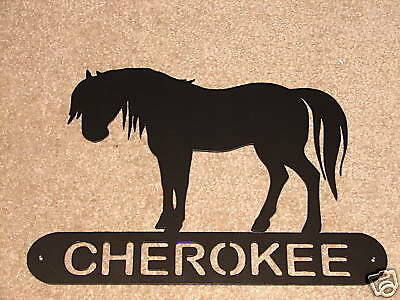 Horse Metal Home Address Plaque Personalized Sign Decor House Barn Farm