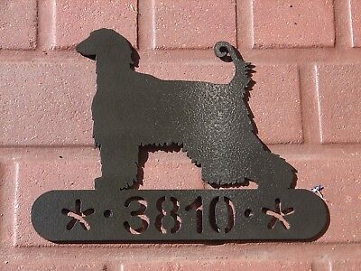 Afghan Hound Address Sign Dog Memorial Home Decor House