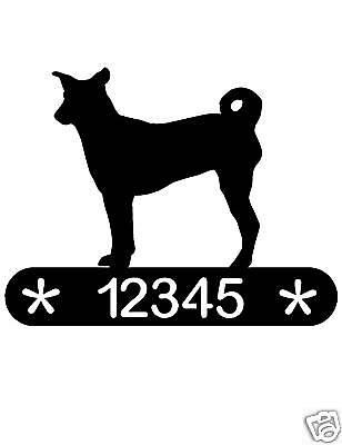 Basenji Address Sign Dog Memorial Home Decor House Pet
