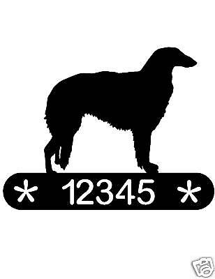 Borzoi Address Sign Dog Memorial Home Decor Pet House