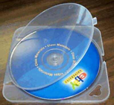 200 Square Trimpak Cd Dvd Poly Case, Clear, Nice!  Bl55
