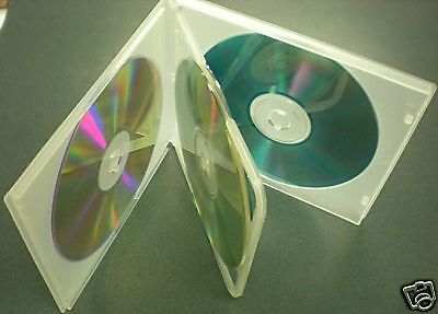 50 NEW CLEAR QUAD 4 CD DVD POLY CASE w SLEEVE PSC76