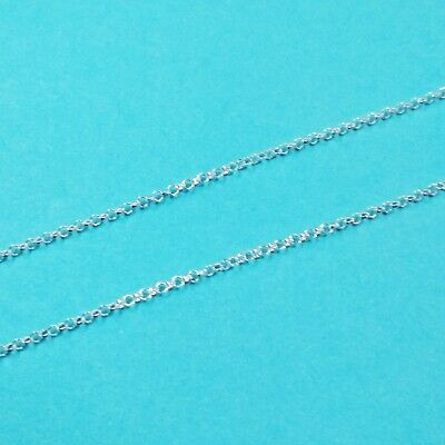 Sold by the foot Italian 925 Sterling Silver BULK 1.7mm Round ROLO Chain
