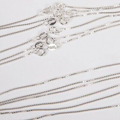 "SALE! 60 St Silver BOX CHAINS Wholesale Lot 16"" 18"" 20"""