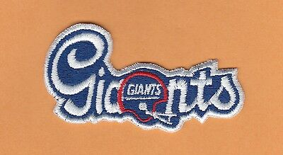 Old NY GIANTS FOOTBALL SCRIPT LOGO PATCH UNused Stock