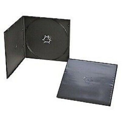 200 Black Single 5Mm Slim Cd Dvd Poly Cases, Kc01