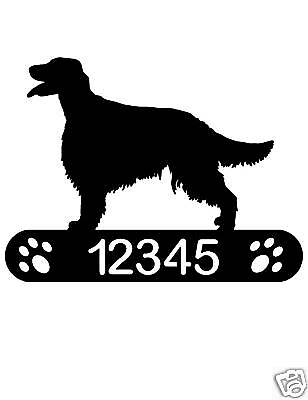 Irish Setter Address Sign Dog Home Decor House Pet K9
