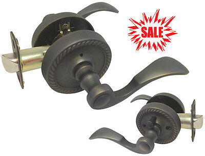 Privacy Oil Rubbed Bronze Lever Handle Door Lock Locks bedroom bathroom