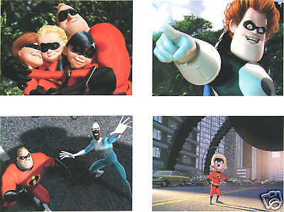 4 Disney Store presale Lithographs THE INCREDIBLES 2005