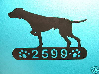 Pointer Home ADDRESS SIGN Dog Pet Decor Hunting Personalized Plaque