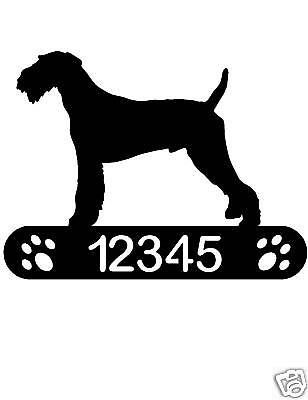Airedale Terrier Address Sign Dog Home Pet Decor House