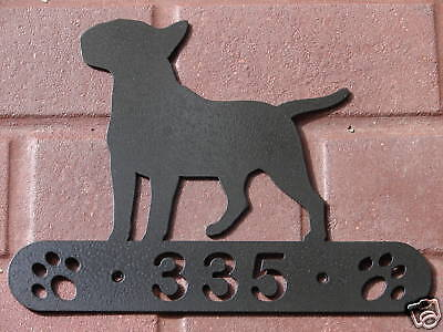 Bull Terrier Address Sign Dog Home Pet Decor House K9