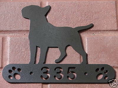 Bull Terrier Address Sign Personalized Plaque Dog K9 Home Pet Decor Name