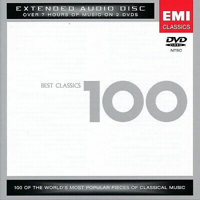 100 Best Classical - 7 Hours of Classics - 2 DVD's NEW