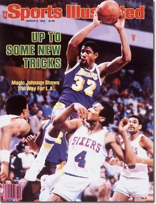March 5, 1984 Magic Johnson Los Angeles Lakers Sports Illustrated