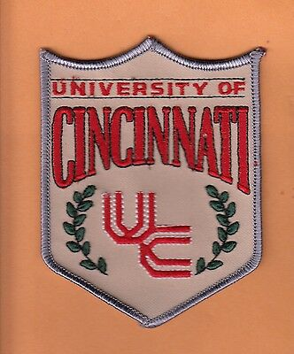 """LOT OF 10 OLD LARGE 4 1/2"""" CLASSIC PATCHES UNIV of CINCINNATI UNUSED BEARCATS"""