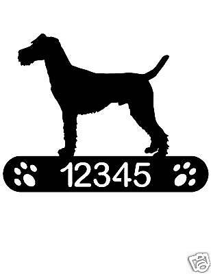 Irish Terrier Address Sign Dog Home Pet Decor Plaque K9