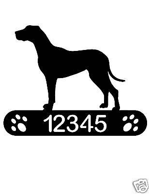 Great Dane Address Sign Dog Home Pet Decor Plaque K9