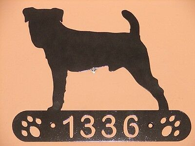 Jack Russell Terrier Address Sign Dog Home Pet Decor K9