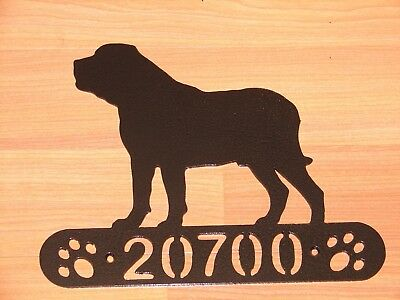Mastiff Address Sign Dog Home Pet Decor K9 Plaque House