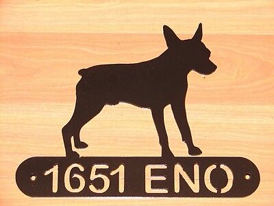 Rat Terrier Address Sign Dog Home Pet Decor K9 Plaque