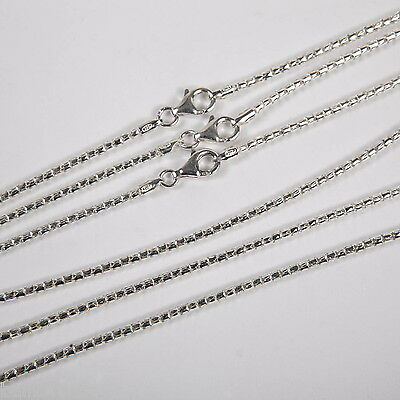 "3 Sterling Silver 2mm COREANA / POPCORN 20"" CHAINS Lot"