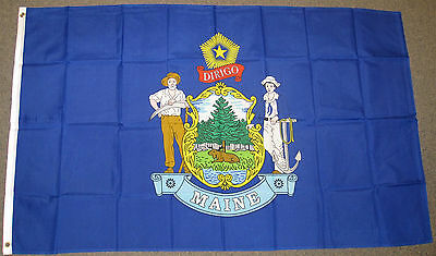3X5 Maine State Flag Me Flags States Usa Us New F250