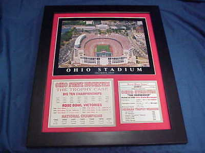 11X14 FRAMED OHIO STATE BUCKEYES STADIUM TROPHY CASE +