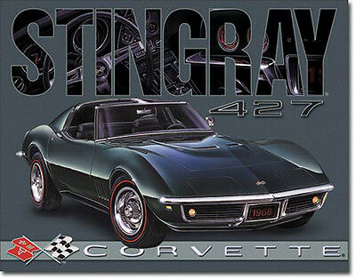 * GM Merchandising Chevrolet Corvette 1968 Stingray Poster Bild Reproschild *101