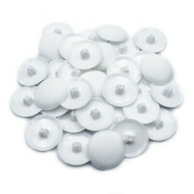 100 x WHITE PUSH IN POZI PLASTIC SCREW COVER CAPS FOR POZI 2 SCREWS - PZ2 *