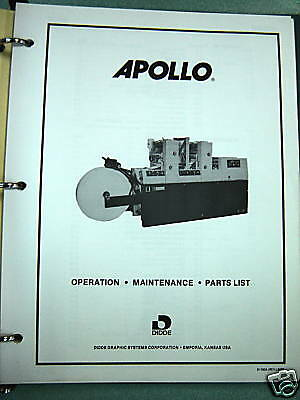 Didde Apollo Operation and Parts Manual