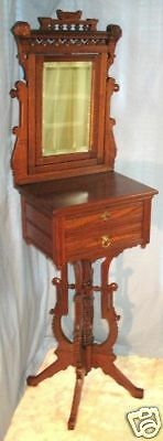Renaissance Revival Eastlake Walnut Shaving Stand