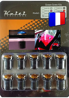 Kit Bulle 10 Boulons Couleur Or Buell