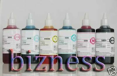 6 x 100 ml Bottles Ink for HP02 HP3110 8230 C5180 C7180