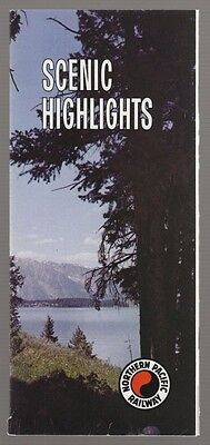 """1968 Northern Pacific Railway """"scenic Highlights"""" Flyer"""
