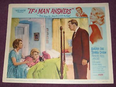 1962 IF a MAN ANSWERS Original LOBBY CARD DEE DARIN