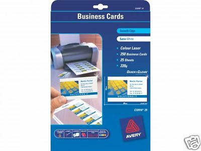 PAPIER AVERY 250 CARTES VISITE 220g DOUBLE FACE LASER