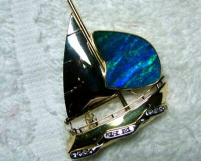 Opal Broach 18K Solid Collector Pc