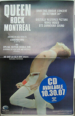QUEEN Rock Montreal, orig Eagle Ent promotional poster, 2007, 11x17, EX