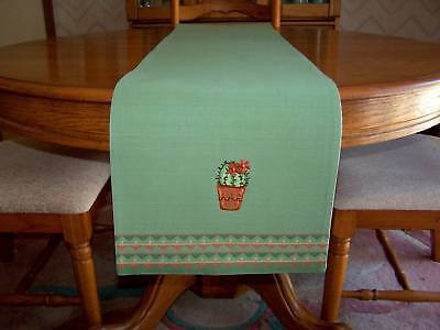 """Cactus Table Runner """"Embroidered Cactus"""" Pattern"""