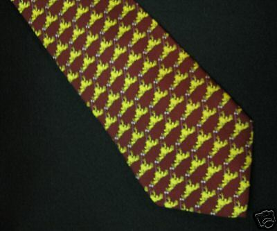 Peace Frogs 100% Silk Maroon Flycatcher Necktie