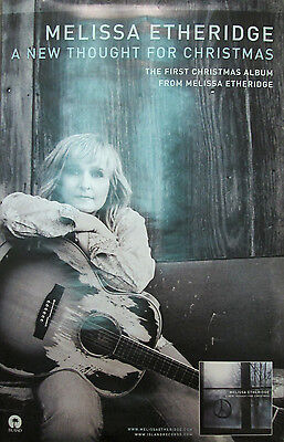 MELISSA ETHERIDGE New Thought For Xmas, 2-sided promo poster, 2008, 11x17, EX!